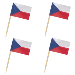Flaggenpicker Fahnenpicker Deko-Picker Land 'Tschechien',  50 Stk.
