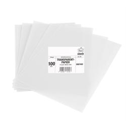 BigDean Transparentpapier 100 Blatt extra stark 115 g/m², weiß/ durchsichtig - DIN A4 bedruckbar - Bastelpapier Made in Europe