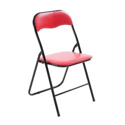 CLP Klappstuhl Felix Klappbarer mit Kunstleder PVC Sitz Gepolstert rot