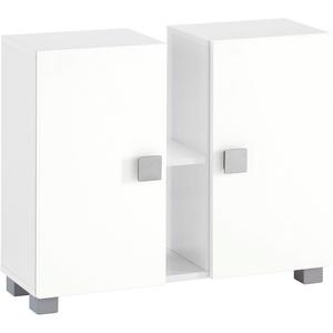 Schildmeyer Waschbeckenunterschrank Edia weiß Bad-Waschbecken-Unterschränke Badmöbel Schränke