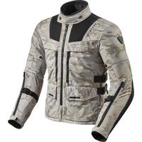 Revit Offtrack Motorrad Textiljacke, schwarz-beige, Größe 2XL