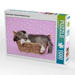 Sheltie Welpe / Shetland Sheepdog Puppy Lege-Größe 64 x 48 cm Foto-Puzzle Bild von Jeanette Hutfluss Puzzle