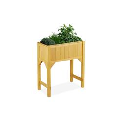 relaxdays Hochbeet Hochbeet auf Stelzen Holz