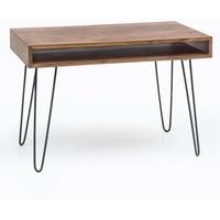 Wohnling Schreibtisch BAGLI braun 110 x 60 x 76 cm Laptoptisch Sheesham