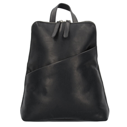 The Chesterfield Brand Wax Pull Up Claire City Rucksack Leder 28 cm black