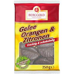 Berggold Gelee Orangen und Zitronen Schokolade Fruchtgelee 250g