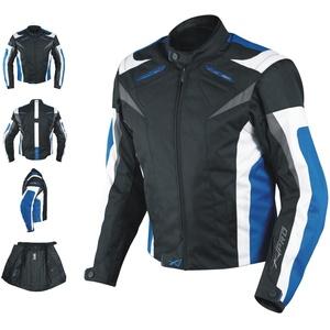 A-Pro Motorradjacke CE Protektoren Sport Textil Motorrad Thermofutter Blau 3XL