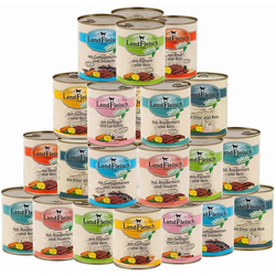 LANDFLEISCH Hunde-Futterspender Landfleisch Hunde Nassfutter 800g, Hochwertiges Nassfutter für Hunde 12 ml
