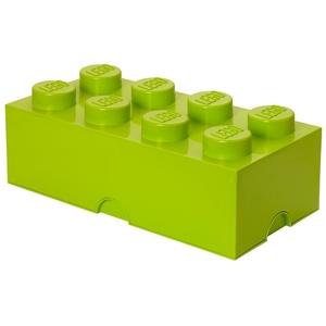 LEGO Aufbewahrungsstein, 8 Noppen, Stapelbare Aufbewahrungsbox, 12 l, lindgrün