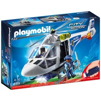 Playmobil City Action Polizei-Helikopter mit LED-Suchscheinwerfer (6874)