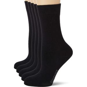 Schiesser Damen Multipack 5 Pack Damensocken Strümpfe Socken, Schwarz, 35-38 EU