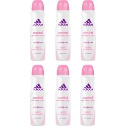 adidas Performance Deo-Spray Control, Spar-Set, 6-tlg., Anti-Transpirant Spray für Frauen
