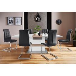 Essgruppe Perez/Lola, (Set, 5-tlg), mit 4 Stühlen, Tisch ausziehbar, Breite 160-200 cm weiß
