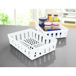 Ruco Aufbewahrungskorb (Set, 4 Stück), für den Kühlschrank, Kunststoff