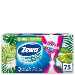 Zewa Wisch & Weg Quick Pack Küchenpapier, Haushaltstücher in handlichen Einzelblättern, 1 Packung = 75 Einzelblätter