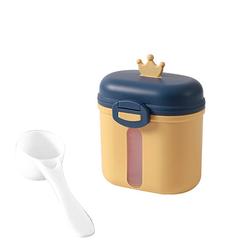 kueatily Aufbewahrungsbox Tragbares Milchpulver, Babymilchpulverbehälter, Milchpulverspender, BPA-frei, Milchpulveraufbewahrung, Milchpulverportionierer, Babymilchpulverdose gelb