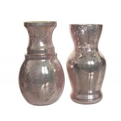 Vase GLAMOUR rosa(DH 6x10 cm)