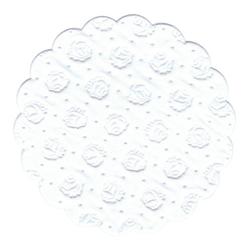 Papstar Tassen-Untersetzer rund, Tissue, 9-lagig, Ø 9 cm, 1 Packung = 20 Untersetzer, weiss