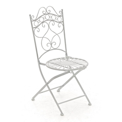 CLP Gartenstuhl Indra, handgefertigter Gartenstuhl aus Eisen weiß