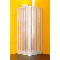 Eckdusche BxT: 80 x 90 cm weiß