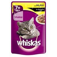 whiskas Portionsbeutel 7+ mit Huhn in Sauce 24 x 100 g