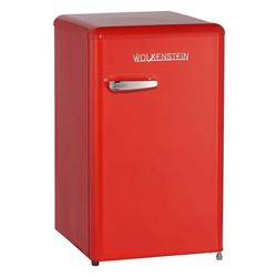 Wolkenstein Kühlschrank KS95RT FR KS95RT FR, 87.1 cm hoch, 50.6 cm breit, Standkühlschrank 88 Liter Retro-Design rot
