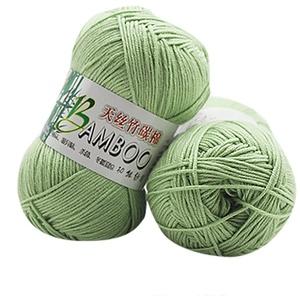 wuayi 1 x 50 g grobes buntes natürliches warmes weiches Bambus-Baumwoll-Häkelgarn, Wolle zum Stricken von Schals, Mützen, Pullovern.