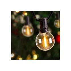 Avoalre LED-Lichterkette LED Lichterkette Glühbirnen IP65 Wasserfest, Avoalre G40 warmweiss 30 Glühbirnen LED Lichterkette Außen,10M Innen-/Aussenbeleuchtung Partylichterkette (Max. 170M) Ausdehnbar Outdoor Lichterkette