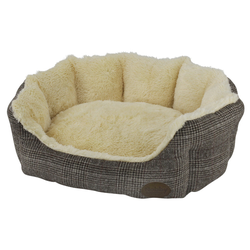 Nobby Hundebett oval Oti braun, Maße: 86 x 70 x 24 cm
