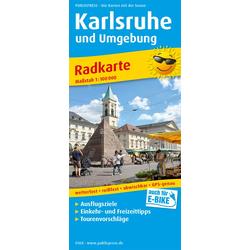 Karlsruhe und Umgebung 1:100 000