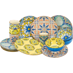 CreaTable Kombiservice Aladin, (Set, 16 tlg.), orientalische Motive bunt Geschirr-Sets Geschirr, Porzellan Tischaccessoires Haushaltswaren