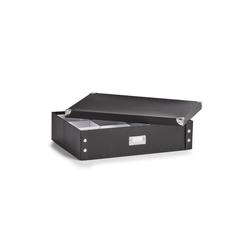 HTI-Living Aufbewahrungsbox Krawattenbox Gürtelbox (1 Stück), Krawattenbox schwarz