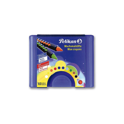 Pelikan Wachsmalstift Wachsmalstifte, wasservermalbar, Box mit 10 Farben