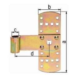 Kreuzband B.50mm L.160x50mm S.2mm STA galv.gelb verz.GAH