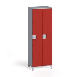 Zweiteiliger kleiderschrank 1750 x 600 x 400 mm, grau/rote