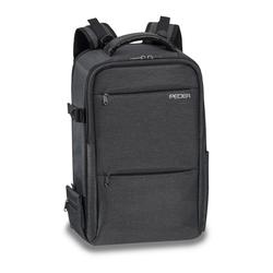 PEDEA Kamerarucksack NOBLE Fotorucksack mit Regenschutz, Tragegurt und Zubehörfächern, grau