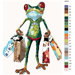 """Malen nach Zahlen """"Frosch beim Einkaufen"""", 40x50cm, KTMK-42029"""
