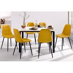 Essgruppe (Set, 5-tlg) gelb Essgruppen Tische Sitzmöbel-Sets