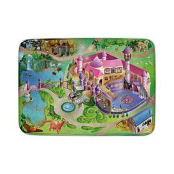 Kinderteppich Ultrasoft Spielteppich Bauernhof, ACHOKA® rosa