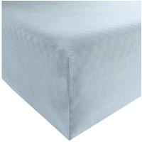 REDBEST Spannbettlaken, REDBEST, Uni Jersey-Stretch blau 140-160 cm x 200 cm