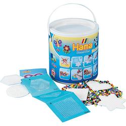HAMA 7701 Eimer mit 20.000 midi-Perlen, 5 Stiftplatten und Haftfolie