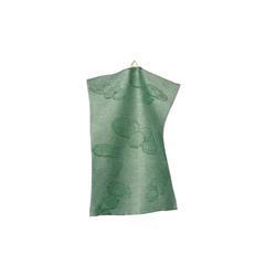 Geschirrtuch in grün mit Gurken-Muster, 50 x 70 cm