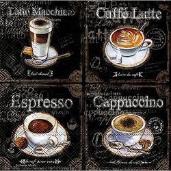 """Papierservietten """"Kaffeesorten"""", 33 x 33 cm, 20 Stück"""