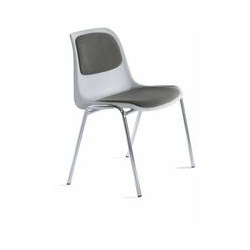 Certeo - Stapelstuhl | Kunststoff | mit Polster | Grau Aufenthaltsraum Aufenthaltsräume