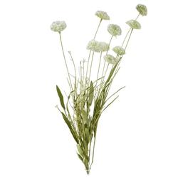 Kunstblume Wiesenblumen Blumenstrauß Kunstpflanzen 1 Stk 60 cm weiß Wiesenblumen, matches21 HOME & HOBBY, Höhe 60 cm, Indoor weiß