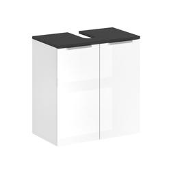 Vicco Waschbeckenunterschrank Waschtischunterschrank OTIS Weiß - Badezimmerschrank Hochschrank Regal Badregal Bad