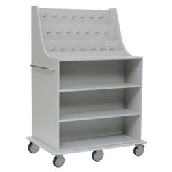 novocal Katheterwagen, Pflegewagen für eine geschützte und übersichtliche Lagerung von Herzkathetern, Maße(BxTxH): 112 x 79 x 164 cm, KW01