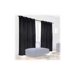 Vorhang Schwarze Vorhänge 2er Set, relaxdays 135 cm x 245 cm