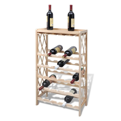 vidaXL Weinregal vidaXL Weinregal für 25 Flaschen Tanne Massivholz