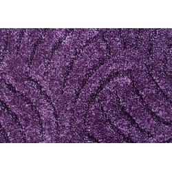 Teppichboden Amberg, Andiamo, rechteckig, Höhe 9 mm, Meterware, Breite 300 cm, Hoch-Tief Teppichboden lila